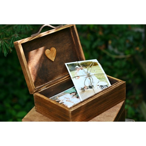 Skrzynka rustykalna na zdjęcia 13 x 18