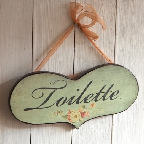 Zawieszka - tabliczka - TOILETTE -