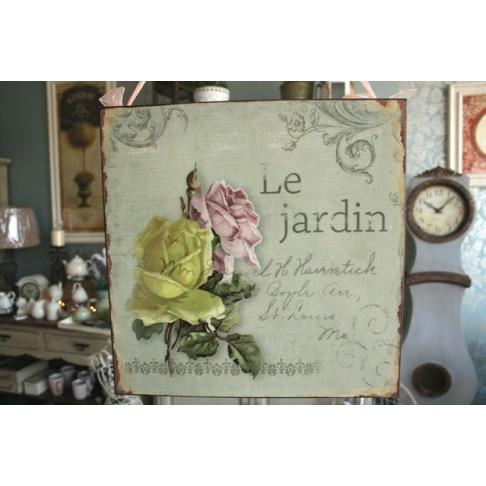 Tabliczka Le Jardin z różami
