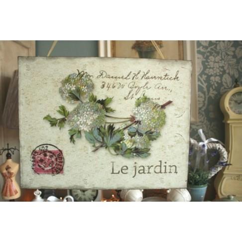 Tabliczka Le jardin - Hortensja