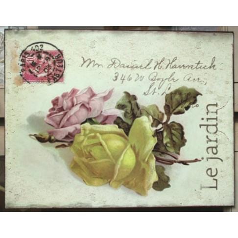Tabliczka Le Jardin - Róże 2