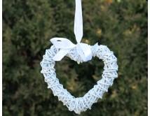 Wiklinowe serce otwarte 20 cm