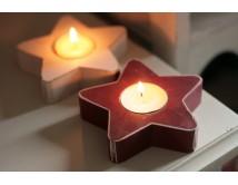 Świecznik gwiazdka - red