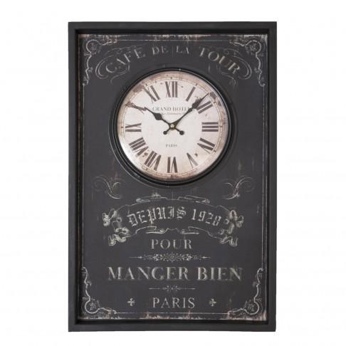 Zegar ścienny Cafe De La Tour