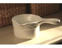 Ceramiczny rondelek z uchwytem - Cream