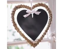 Wiklinowe serce natural 20 z tabliczką