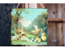 Tabliczka z aniołkami - Wielkanoc
