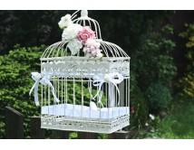 Klatka ślubna na życzenia CREAM ROSE
