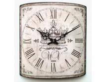 Zegar z koroną - styl francuski vintage