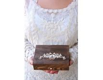 Pudełko na obrączki ślubne - PERSONALIZACJA