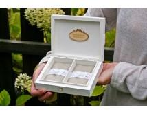 Pudełko białe na obrączki ślubne  - PERSONALIZACJA