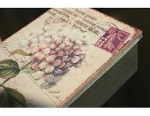 Pudełko blaszane - Hortensja -