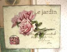 Tabliczka Le Jardin - Róże 1